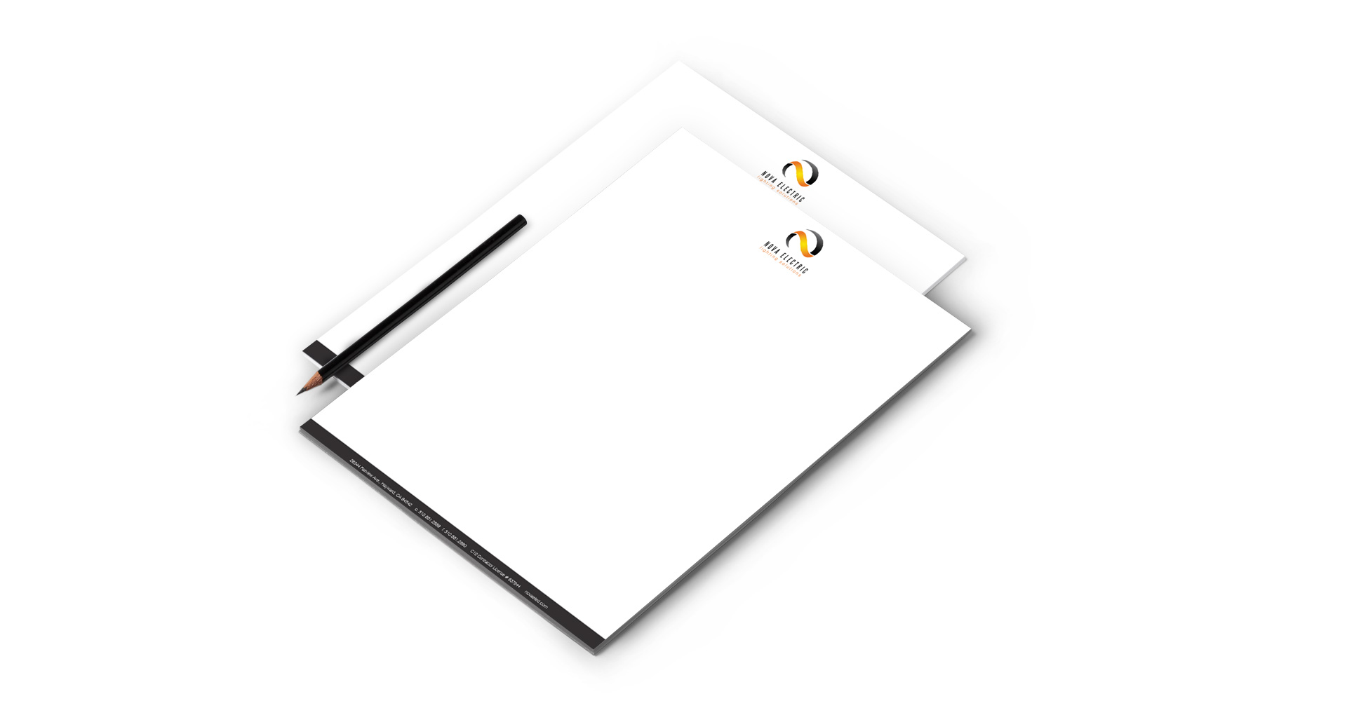 nova electric lighting solutions letterhead